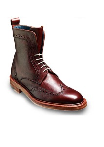 Barker Shoes – Hockney Brogue Boot – Cherry Grain
